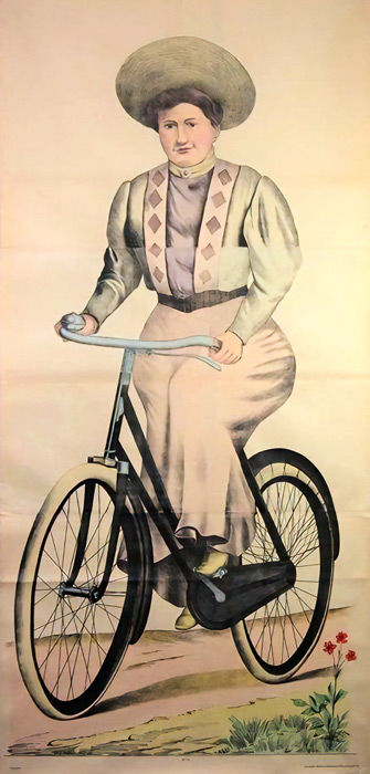 Anonymous - Femme à la bicyclette - Circa 1880