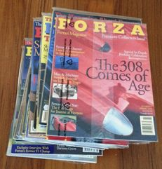 Lot of 33 'FORZA' Ferrari Magazine -- from issue no. 1 Spring 1996 to issue no. 34 December 2001