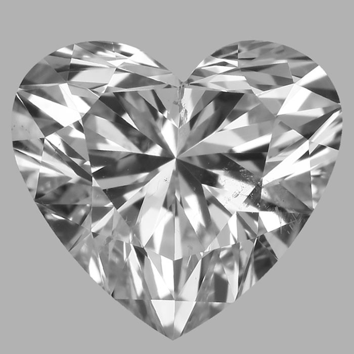 Amazing 0.72 ct Heart Shape ESI2 with Gia Certificate #-No Black inclusion