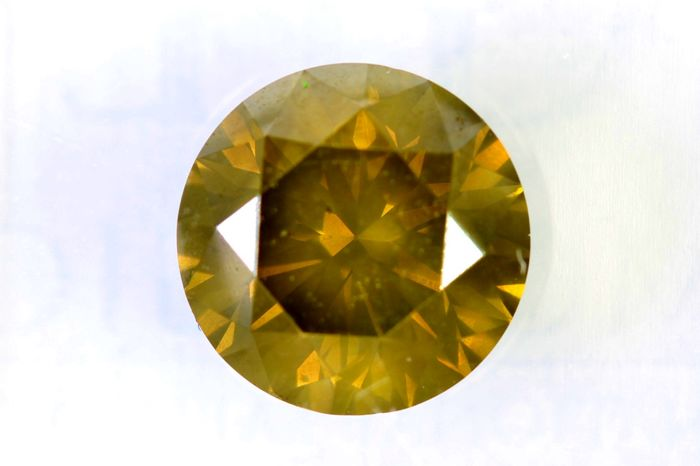 Fancy intense greenish yellow diamond - 1.53 ct - SI1