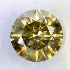 Fancy INTENSE Greenish Yellow Diamond - 1.67 ct - SI1 - * NO RESERVE PRICE *