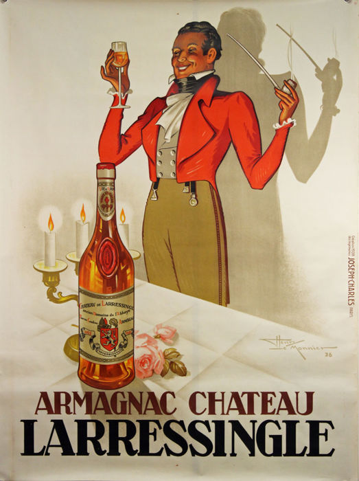 Henri Lemonnier - Armagnac Chateau Larressingle  - 1938