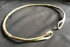 Early Type of Vikings Bronze Torc, 235 x 220 mm
