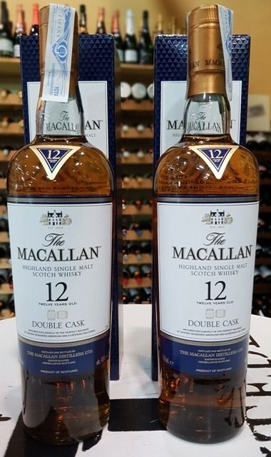 Macallan 12 years old Double Cask - Original bottling - 70cl - 2 bottles