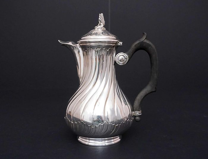 Sterling Silver coffee pot, France XIXth/XXth c.
