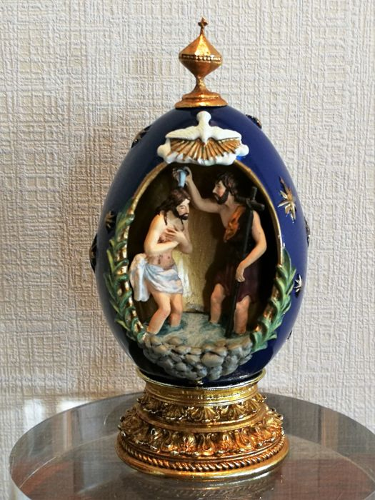 "House of Faberge - Religious egg  - ""The Nativity"""