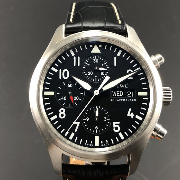 IWC - Der Flieger Chronograph Black Dial  - Ref.IW3717 - Men - 2000-2010