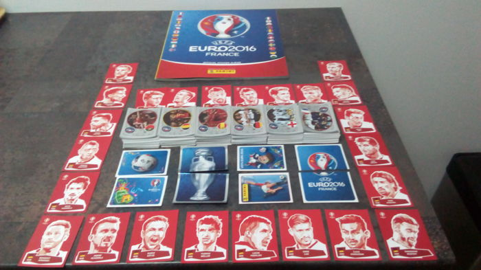 Panini - Euro 2016 France - Complete loose 680 sticker set + Empty album + 24 Coca Cola sticker set.