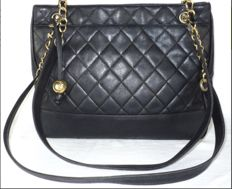 Chanel - Black Lambskin Quilted  Tote bag - VIntage
