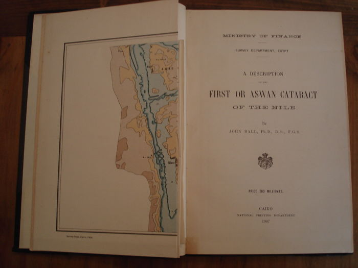 Ball, J - Description of the first or Aswan cataract of Nile - 1907