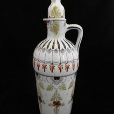 Plateelbakkerij Zuid-Holland - decanter with stopper - decor Old-Holland - presumably H. Breetvelt, first period