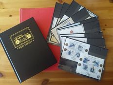 Norway, 1863-1992 - Lot of 2 albums with booklets, mini-sheets and ATM