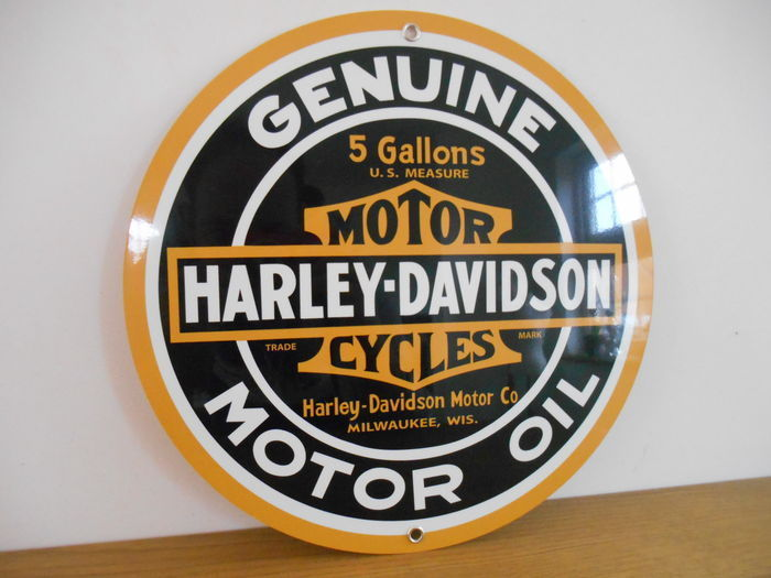 Metal advertising sign for Harley Davidson from 1995