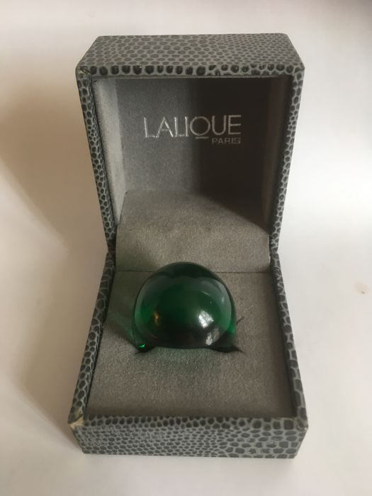 Lalique - Cabochon ring groen
