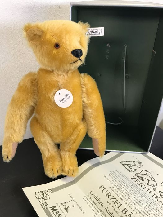 d9ca9593466 Steiff Purzelbar / Somersault Teddy 1909 - 406553 - 0164/29 - Limited  Edition - Certificate of authenticity - Original Box - All Tags - As New -  Catawiki