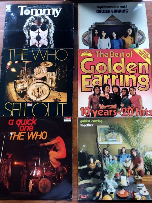 Lof of 6 albums - The Who & Golden Earring