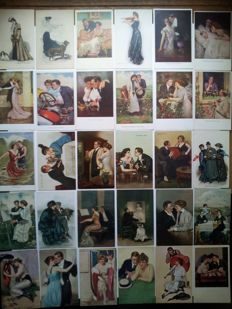 Clarence Underwood-postcards-36 cards-see the photos.
