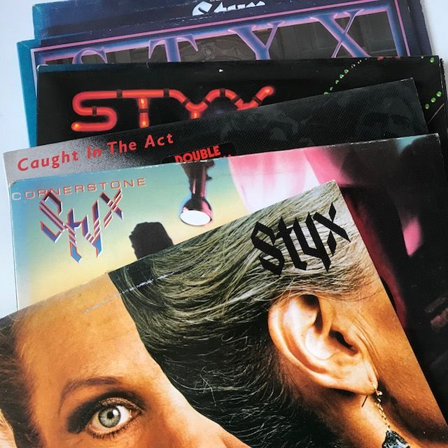 Styx - lot of 6 of their classic LPs