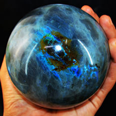 "Top Blue Flash Labradorite ""healing ball"" - 105 mm - 1153 gm"