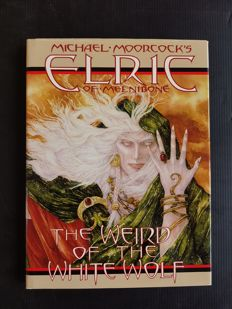 First Publishing - Michael Moorcock's Elric of Melnibone: The Weird of the White Wolf - HC - Signed & Numbered Edition - 1990