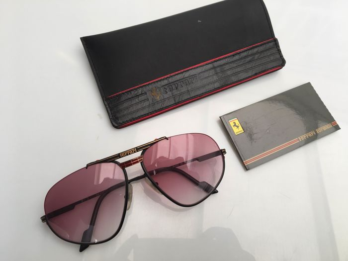 aviator ban men ferrari in sunglasses for accessories lyst scuderia blackredgreen ray green gunmetal collection