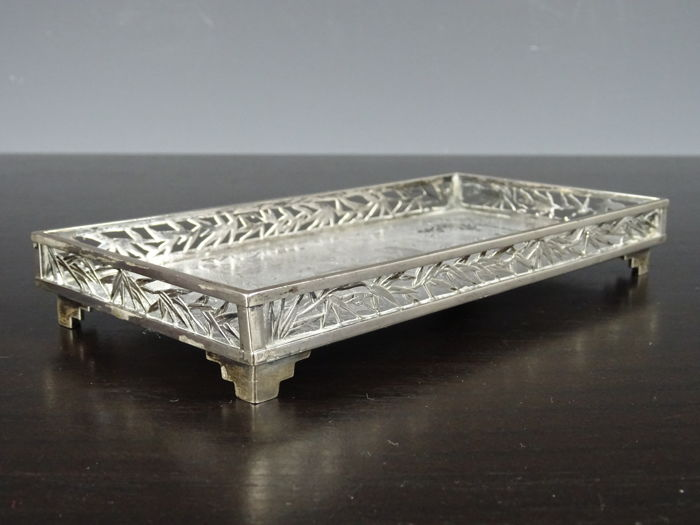 Export silver plate from WANGHING-China-19th century