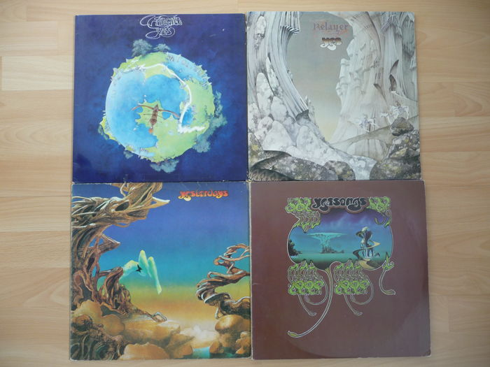 Yes - Lot of 3 LP's and 1 3-Double-LP - Fragile, Relayer, Yesterdays & Yessongs