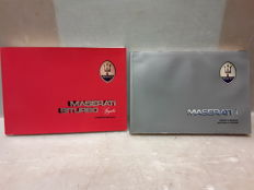 2 MASERATI user's and maintenance booklets Language: English, 1 for Australian market with right hand drive