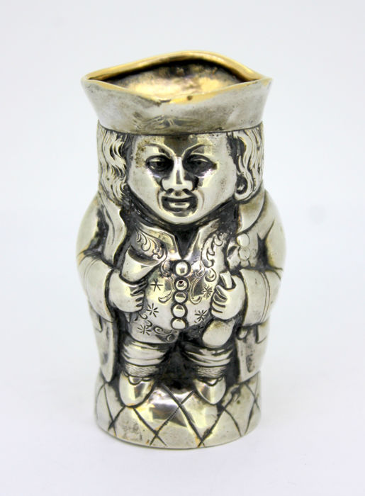 Antique silver Toby small cup, 19th Century