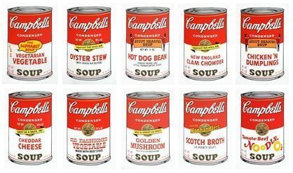 Andy Warhol - 10x Campbell's Soup II  - 2014