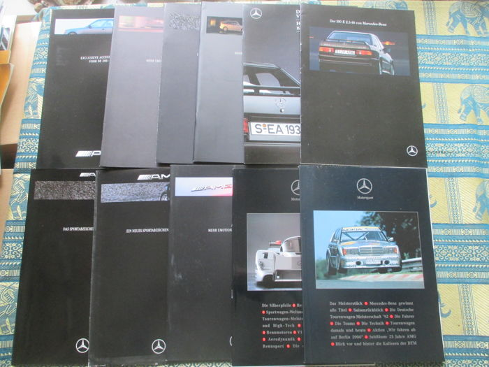 Car brochures (Mercedes/AMG, 11x, 1988-1997)