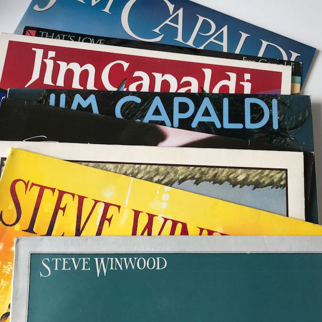 Traffic's Jim Capaldi / Steve Winwood - lot of 8 LP (incl one 12ïnch EP)