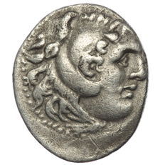 Greek Antiquity -Kings of Macedon - Alexander the Great - 336-323 BC - AR drachm - Posthumously struck, possibly Lampsakos or Erythrae mint - 20mm 3,87g