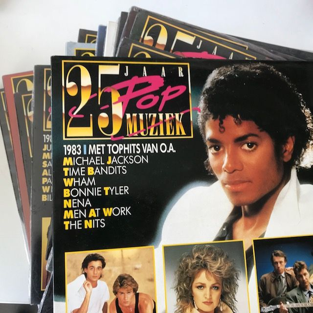 25 Jaar Popmuziek, complete series of 21 double LPs - most of them still sealed