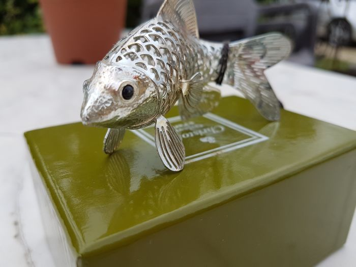 """the mullet fish"" from the Christofle ""lumière"" silver collection, in new/mint condition"