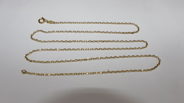 Unisex 18 kt/750 gold necklace, model forsa