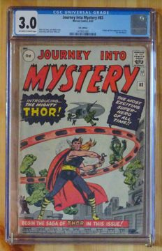 Journey Into Mystery #83 - Marvel Comics - 1st Appearance of Thor - CGC 3.0 - (1962)
