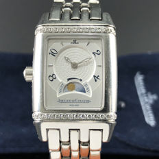 Jaeger-LeCoultre - Reverso Duo Face Night-Day Diamond White Dial - Ref. 296.8.74 - Femme - 2000-2010