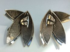 Silver marked clip earrings, 925/1000, from the 1950s