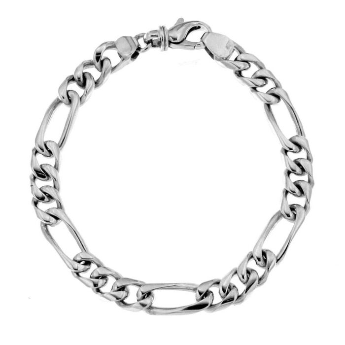 Chain bracelet in 18 kt white gold