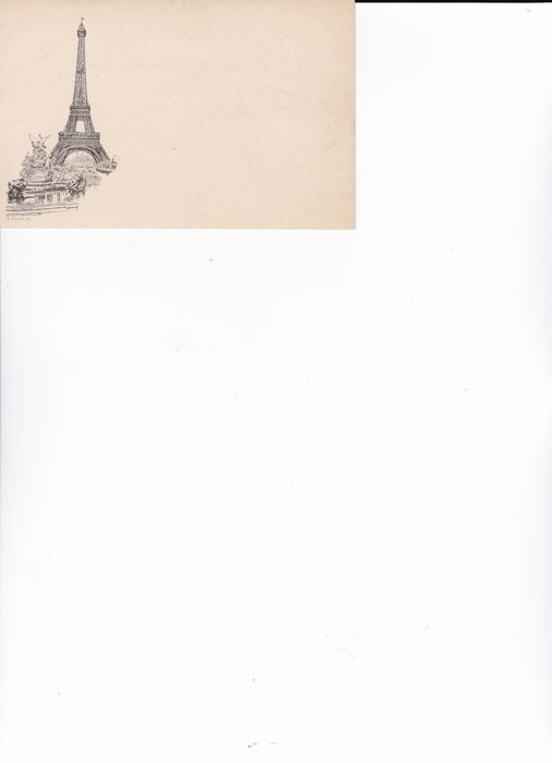 "Very rare illustrated first postcard published in France known as ""LIBONIS tour EIFFEL"" with stamp of the day of the inauguration October 10, 1889"