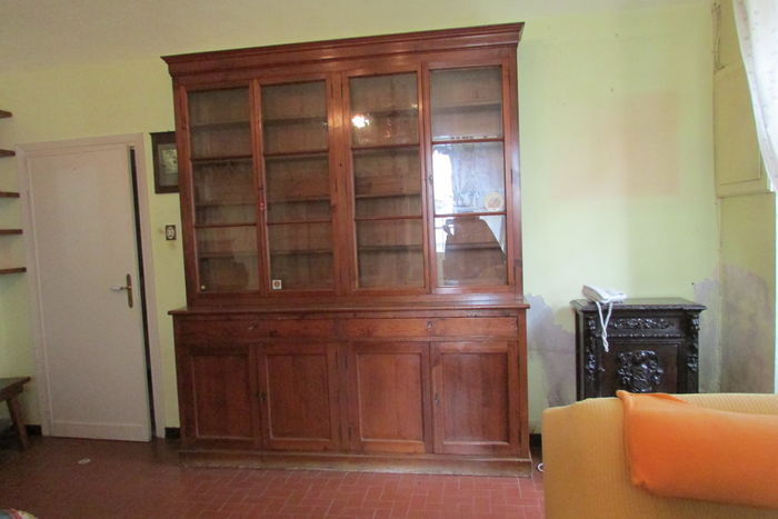 Large bookcase with 4 doors - early 20th century