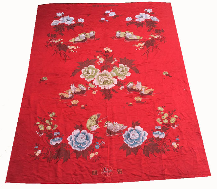 20th Century Qing Dynsaty Chinese Silk Wall Hanging / Table Cloth