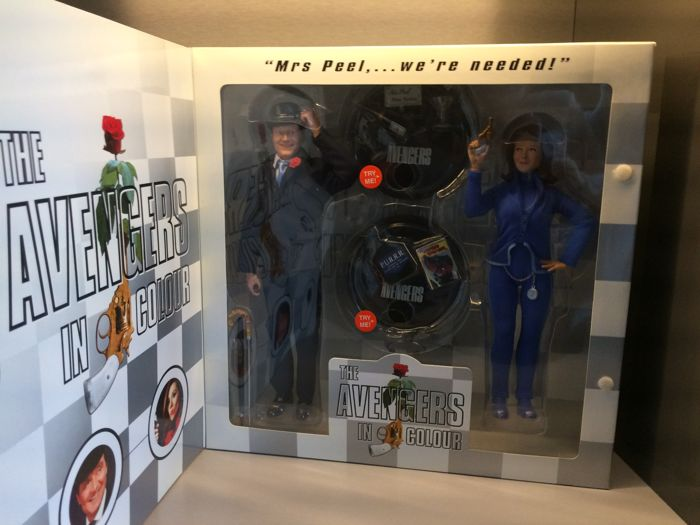 Product Enterprise - Scale 1/6 - 12'' - 2005 - The Avengers in Colour - John Steed & Emma Peel - Deluxe Talking Action Figures