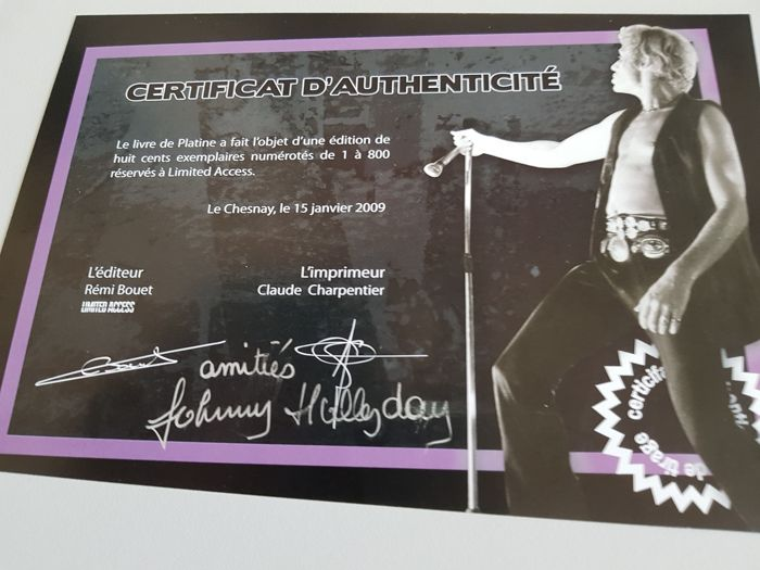 Limited access - Livre de platine Johnny Hallyday - 2009