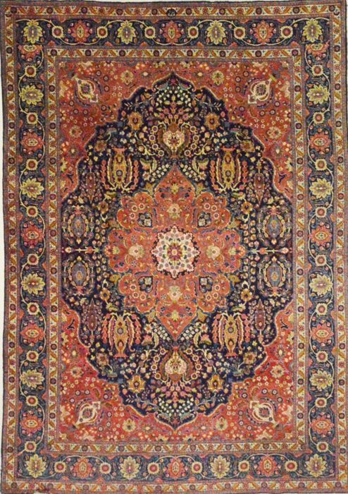 Semi-antique Tabriz, Iran - 250 x 352 cm