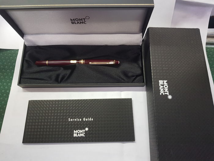 "Montblanc Meisterstuck fontain pen nib""M"" color bordeaux original new!!"