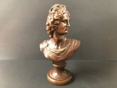 """""""Apollo"""" bust made of wood - 20th century"""