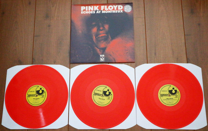 Pink Floyd- Echoes At Montreux 3lp/ Limited & numbered unofficial release of only 100 copies worldwide on RED wax/ NEAR MINT & already out of print!