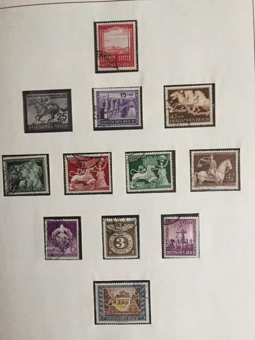 German Reich 1923/1945 - on album sheets